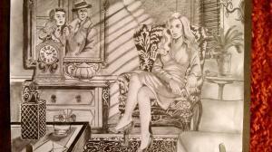 jobb agyféltekés rajz Némethi Judit 60