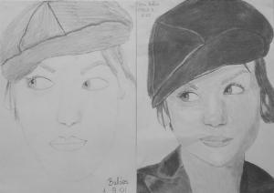 16.04 Patai Balázs (13 éves) 1. és 3. napi rajza