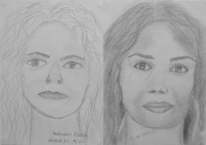 16.06 Madarász (Eszter 13 éves) 1. és 3. napi rajza