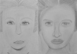 16.06 Varga Anna (13 éves) 1. és 3. napi rajza