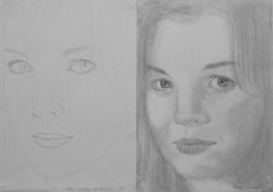 16.10 Nagy Emese (14 éves) 1. és 3. napi rajza