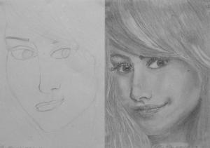Miklósi Petra (14 éves) 1. és 3. napi rajza