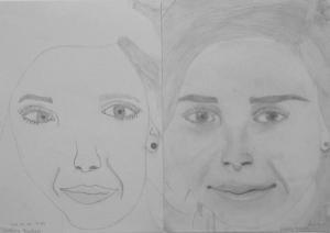 17.06 Székely Beatrix (14 éves) 1. és 3. napi rajza