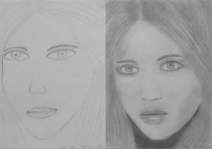 Majáthné Veres Anita 1. és 3. napi rajza
