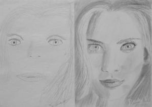 Bede Balázs (11 éves) 1. és 3. napi rajza