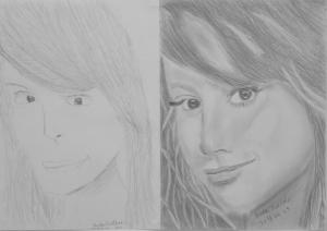 Bede Zoltás (13 éves) 1. és 3. napi rajza