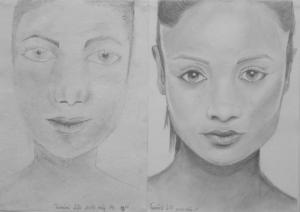 Tamási Lili (14 éves) 1. és 3. napi rajza