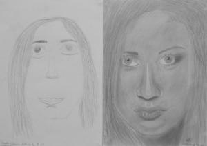 Szegedi Liliána (13 éves) 1. és 3. napi rajza