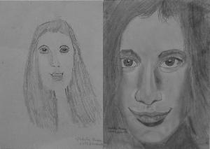 19.02 Vodila Panna (11 éves) 1. és 3. napi rajza
