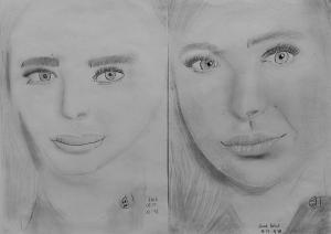 20.08.03. Novák Natali (13 éves) 1. és 3. napi rajza