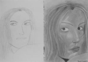 jobb agyféltekés rajztanfolyam 1. és 3. napi rajz 2012.12 Forgács Csenge (11 éves)
