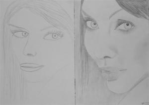 jobb agyféltekés rajztanfolyam 1. és 3. napi rajz 2012.12 Hegedűs Judit Boglárka