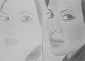 jobb agyféltekés rajztanfolyam 1. és 3. napi rajz 2012.12 Ladányi Ildikó