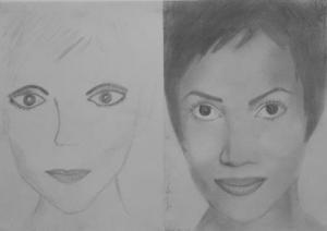 jobb agyféltekés rajztanfolyam 1. és 3. napi rajz 2013.12 Bajzát Ágnes 1. és 3. napi rajza