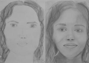 jobb agyféltekés rajztanfolyam 1. és 3. napi rajz 2013.12 Gonda Gréta (15 éves)