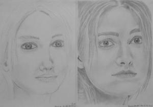 jobb agyféltekés rajztanfolyam 1. és 3. napi rajz 2013.12 Karcza Anikó