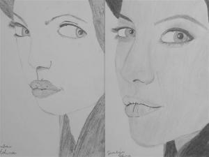 jobb agyféltekés rajztanfolyam 1. és 3. napi rajz 2013.05 Gombár Edina (12 éves)