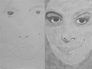 jobb agyféltekés rajztanfolyam 1. és 3. napi rajz 2013.05 Kardos Vivien (12 éves)