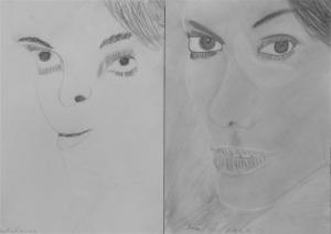jobb agyféltekés rajztanfolyam 1. és 3. napi rajz 2013.03 Dremák Aurél (13 éves)