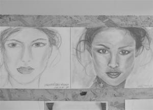 jobb agyféltekés rajztanfolyam 1. és 3. napi rajz 2013.03 Vargáné Dobos Mónika