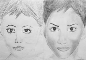 jobb agyféltekés rajztanfolyam 1. és 3. napi rajz 2014.08 Csányi Vanda Eszter (13 éves)