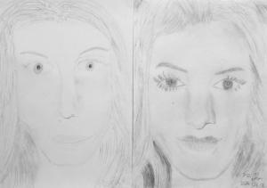 jobb agyféltekés rajztanfolyam 1. és 3. napi rajz 2014.08 Füzesi Dorina (11 éves)