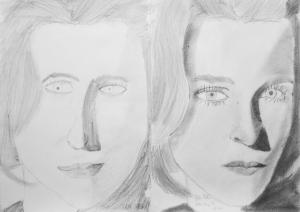 jobb agyféltekés rajztanfolyam 1. és 3. napi rajz 2014.08 Gáti Réka (11 éves)