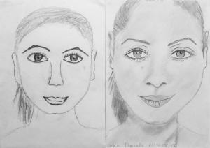 jobb agyféltekés rajztanfolyam 1. és 3. napi rajz 2014.08 Urbin Daniella