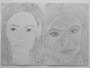 jobb agyféltekés rajztanfolyam 1. és 3. napi rajz 2014.12 Baranyai Réka (13 éves)