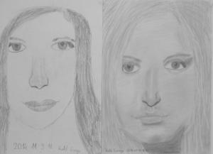 jobb agyféltekés rajztanfolyam 1. és 3. napi rajz 2014.07 Kató Csenge (12 éves)