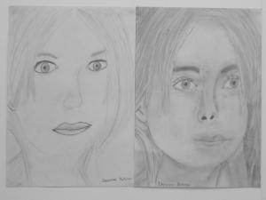 jobb agyféltekés rajztanfolyam 1. és 3. napi rajz 2014.03 Debreceni Bettina (12 éves)