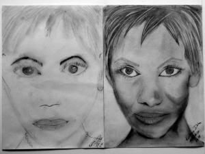 jobb agyféltekés rajztanfolyam 1. és 3. napi rajz 2014.10 Katona Dóra